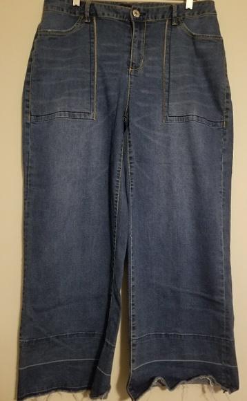 b305d791ec2 Ashley Stewart Denim - CLEARANCE! Super Comfy Wide Leg Jeans